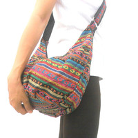 Boho Bag Bohemian Bag Handbag Hobo Shoulder Bag Messenger Bag Everyday Bag  Crossbody Bag Sling Hippie Multicolor Bag Purse Gift Art Bag