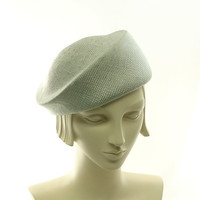 Straw Beret Hat for Women Handmade Fashion by TheMillineryShop