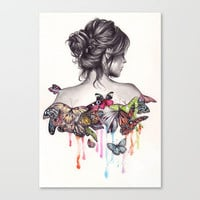 Butterfly Effect Stretched Canvas by KatePowellArt