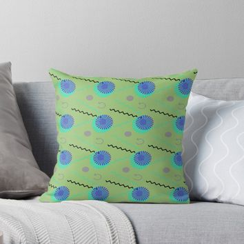 'Retro Modern Pop Abstract ' Throw Pillow by Suzeology
