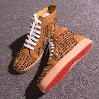 Cl Christian Louboutin Louis Spikes Style #1853 Sneakers Fashion Shoes