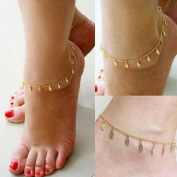 Jewelry & Accessories Jewelry Sets & More Bright Unique Nice Sexy Simple Beads Silver Color Chain Anklet Ankle Foot Jewelry Cheap Sales 50%