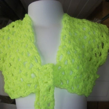 Handmade Childs CROCHET BOLERO with tie  (nannycheryl original) ID  NC36