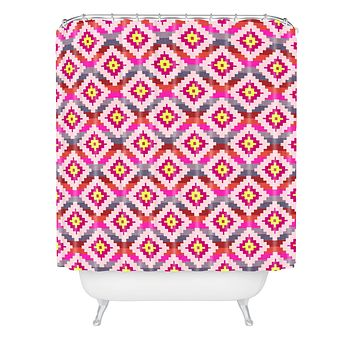 Bianca Green Aztec Diamonds Bright Shower Curtain