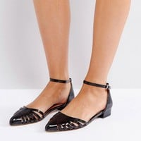Ravel Cut Out Flat Point Shoe at asos.com
