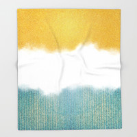 Teahupo'o, sea and sand Throw Blanket by the99thstudio