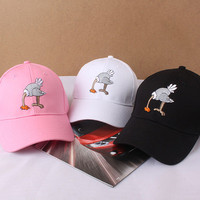Summer Gift Retro Embroidery Ostrich Baseball Cap Unique Casual Hat a12448