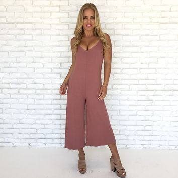 Ryder Jumpsuit in Mauve