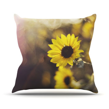 "Libertad Leal ""Magic Light"" Flower Throw Pillow"