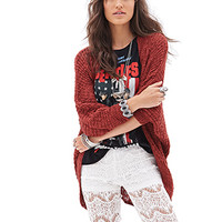 FOREVER 21 Open-Knit Batwing Cardigan