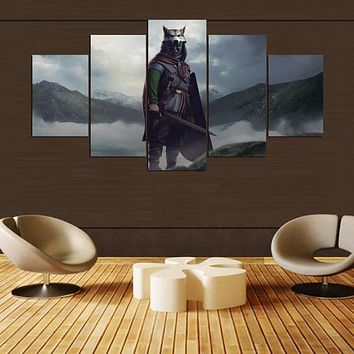 Canvas Oil Painting Cuadros 5 Panel Movie Character Home Decoration Wall Art Pictures Painting For Living Room Prints PENGDA