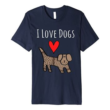 Cute I Love Dogs T-Shirt for Dog Lovers Casual T-Shirt Male Short Sleeve Pattern T Shirts Casual Brand Clothing Cotton