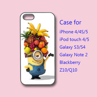 iPhone 4  case, iphone 5 Case -- Despicable me,Minion,  in durable black or white plastic  case, ipod 4 case,ipod 5 case,galaxy s3 case