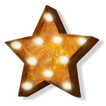1 Foot Small Star Vintage Marquee Sign with Lights