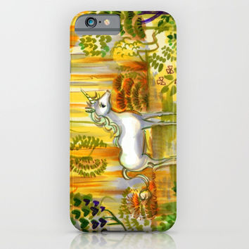Saint Francis's Unicorn iPhone & iPod Case by Christina Siravo