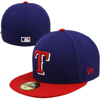 New Era Texas Rangers Two-Tone 59FIFTY Fitted Hat - Royal Blue/Red