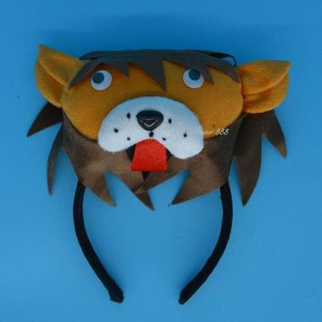 ONETOW 2017 NEW Man Kids Boy Girl 3D King Lion Headband Simba Animal Cosplay Costume Party Halloween Christmas