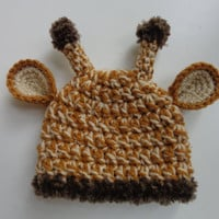 Newborn Crochet Giraffe Hat Baby Boy Baby Girl Photo Prop