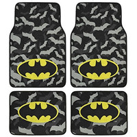 Batman Super Hero Carpet Floor Mats 4 Piece Warner Brothers Licensed Products