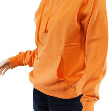 Plain Non-printed Blank Fleece Pocket Pullover Neon Hoodie Men's Unisex