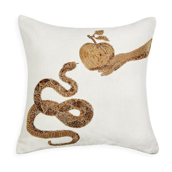 Jonathan Adler Muse Snake & Apple Throw Pillow