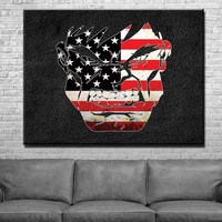 US Flag Hulk Canvas Set