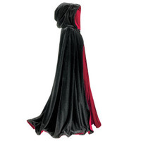 Black and Red Reversible Cape - New Age, Spiritual Gifts, Yoga, Wicca, Gothic, Reiki, Celtic, Crystal, Tarot at Pyramid Collection