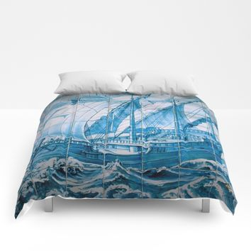 Portuguese Caravela Comforters by Tony Silveira