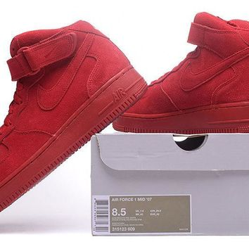 LMFON Nike Air Force 1 Mid Gym Red For Women Men Running Sport Casual Shoes Sneakers