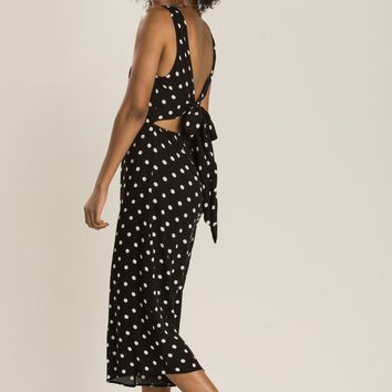 Bailey Black Polka Dot Jumpsuit