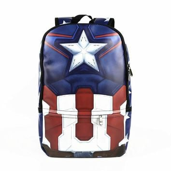 Deadpool Dead pool Taco New Arrival Superhero Muscle Captain America  Backpack Anime Marvel and DC PU Leather Backpacks Laptop Bag School Bag AT_70_6