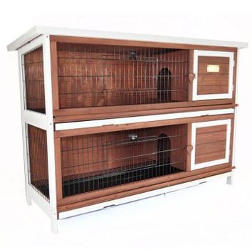 Advantek Duplex Rabbit Hutch | www.hayneedle.com