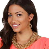 Gold Jealous Mesh Necklace Set