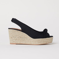 H&M Wedge-heel Sandals $29.99