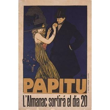 PAPITU vintage ad poster FRANSESC LABARTA dramatic dance HATS COSTUME 24X36