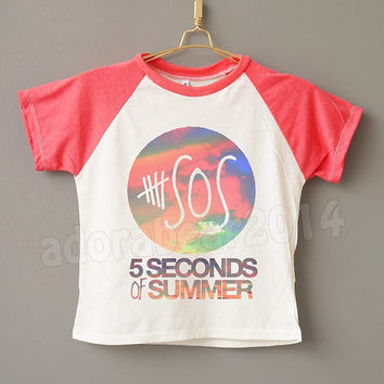 Teens Clothes 5 Second Of Summer T-Shirt 5Sos T-Shirt Sky T-Shirt Teens Short Sleeve Shirt Teens Baseball Shirt Jersey Shirt Teens T-Shirt