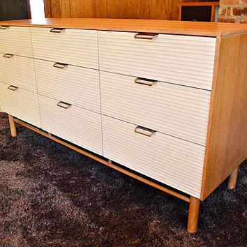 Raymond Loewy for Mengel 9 Drawer Mid Century Dresser