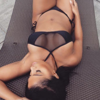 HOT TWO PIECE NET HIGH NECK BLUE BLACK TWO JOIN BIKINIS