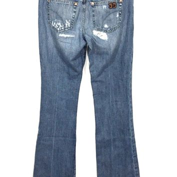 Joe's Jeans Honey Boot Cut Houston Light Distressed Ripped Destroyed Women 25 - Preowned