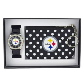 Pittsburgh Steelers Watch & Coin Purse Set