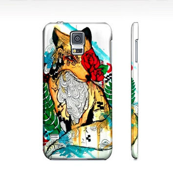 Samsung galaxy s5 Case - Samsung Case - Cell Phone case - Fox art - Watercolor animal - Watercolor fox - fox phone case