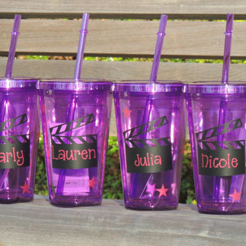acrylic tumbler, personalized cup, personalized tumbler, birthday party cups, personalized birthday cup, plastic cup, cup with straw
