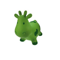 Inflatable bouncy cow - green