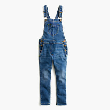 Girls' Stretch Denim Overalls : Girls' Jeans | J.Crew