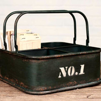 Farmhouse Square metal bin