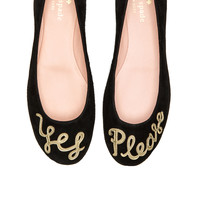 kate spade new york Willow Flat in Black