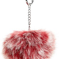 Topshop Red Fluffy Key Ring | Nordstrom