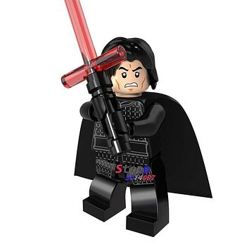 Single star wars Ewok Kylo Ren The Force Awaken super heroes marvel comics building blocks models bricks toys for children kits