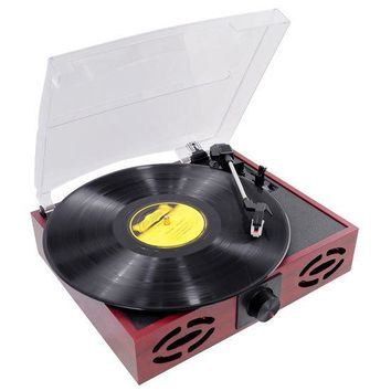 Vintage Classic-Style Turntable Record Player with Vinyl-to-MP3 Recording