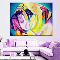 Canvas Wall Art: Bulldog Wall Art on Canvas